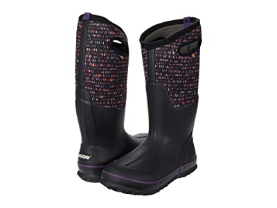 Bogs Classic Tall Twinkle (Black Multi) Women