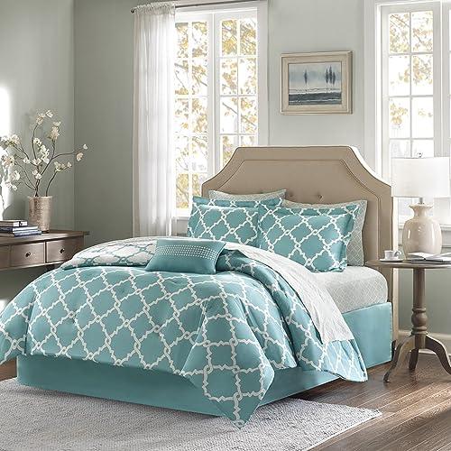 Teal And White Comforter Set Amazon Com