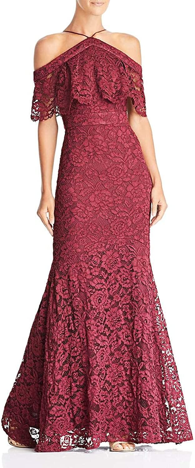 Laundry by Shelli Segal Womens Lace Popover Formal Dress