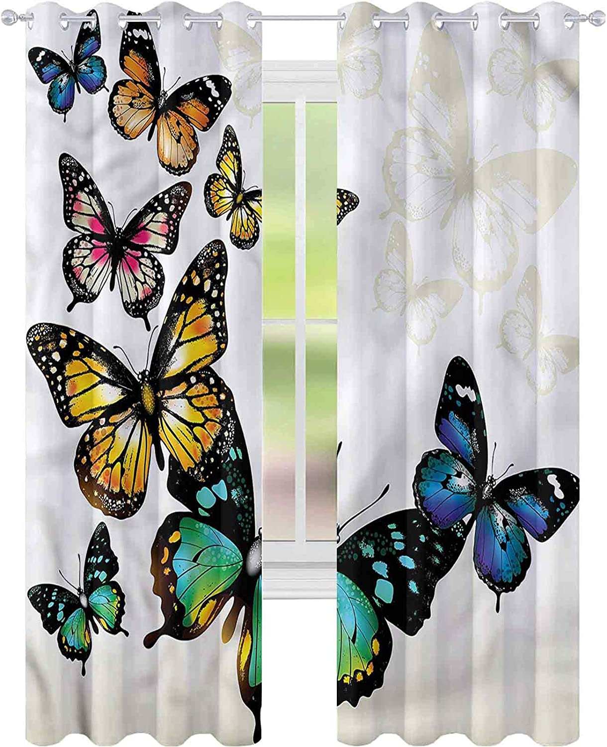 Window Curtain Drape Butterfly Large special price !! Monarch Shades Bl W42 L84 Ombre Outstanding x