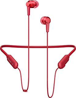 Pioneer SE-C7BT auricular para móvil Biauricular Banda para cuello Rojo Inalámbrico - Auriculares (Inalámbrico, Banda para...