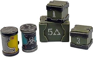 War World Gaming Industry of War Crates & Barrels – 28mm Wargaming Terrain Model Diorama Scenery Sci-Fi Battle Tabletop Wa...