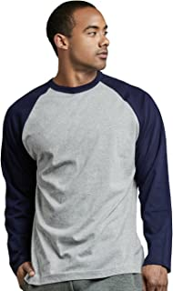 Men's Full Sleeve Casual Raglan Jersey Baseball Tee Shirt