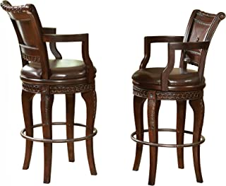 Steve Silver Company Antoinette Swivel Bar Chairs (Set of 2), 23