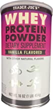 Trader Joe's - Whey Protein Powder Dietary Supplement Vanilla Flavored With Other Natural Flavors 16 OZ (1 LB) 454 g