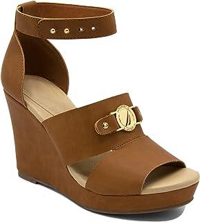 Nautica Women's Jaelyn Open Toe Platform Wedge High Heel Sandals