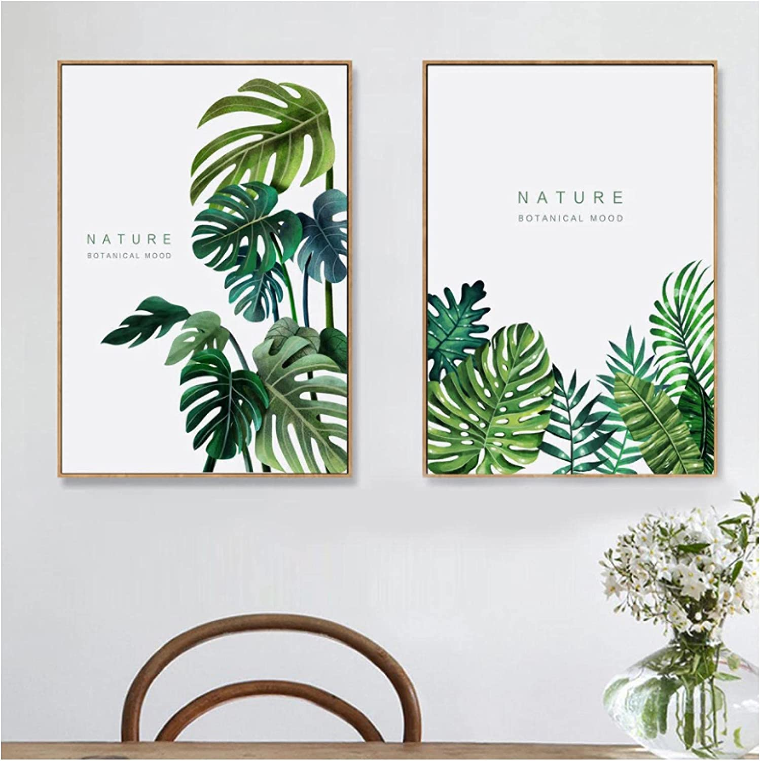 MENGX Canvas Printing Tropical Monstera Leaf Fresh Selling latest Posters and