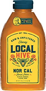 Local Hive from L.R Rice, Raw Honey, Pure and Unfiltered, Local Northern California Beekeepers, 40oz