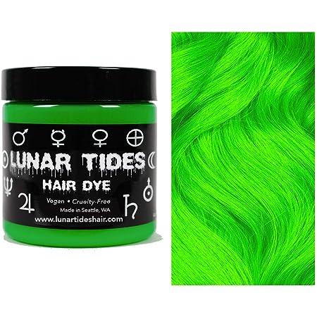 Lunar Tides Hair Dye - Aurora Lime Green Semi-Permanent Vegan Hair Color (4 fl oz / 118 ml)