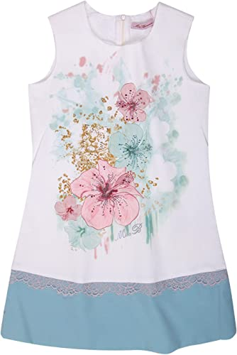 bleumarine Miss Fille Robe Bleu Genou Longueur 345AB90-92204