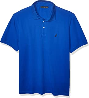 Nautica Men's Short Sleeve Solid Stretch Cotton Pique Polo Shirt