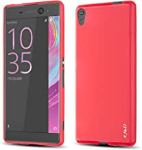 J&D Case Compatible for Xperia XA Ultra Case, [Drop Protection] [Slim Cushion] Shock Resistant Protective TPU Slim Case for Sony Xperia XA Ultra Bumper Case - Red
