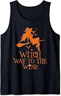 Witch Way To The Wine Halloween Booze Costume Funny Gift Tank Top
