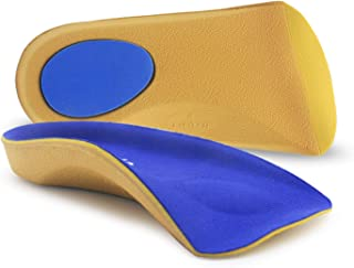 Arch Support Shoe Insert, SPfits 3/4 Orthotic Shoe Insoles for Flat Feet, Plantar Fasciitis, Feet Fatigue, Relieve Heel Spur Pain - Shoe Insert for Men, Woman - for Walking, Running, Exercises