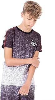 Black Hype Boys Junior Kids Speckle Fade T-Shirt Burgundy