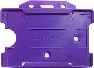 Customcard Lot de 5 porte-badges rigides Violet