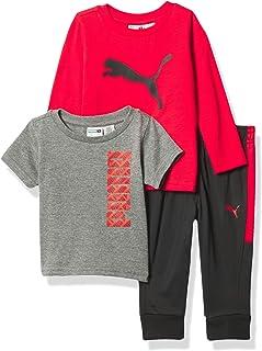 Boys' 3 Piece T-Shirt, Long Sleeve Shirt & Jogger Set