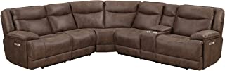 MorriSofa MNY2399-3PC-SECT-27226 Mstar Westwood Dual Power Reclining Sectional, Brown