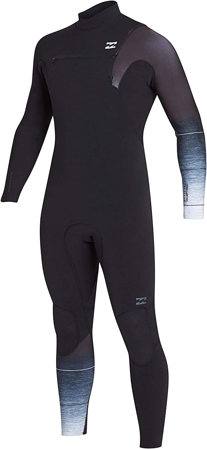 BILLABONG Mens 3 2mm Pro Series Chest Zip Wetsuits Black Fade  Easy Stretch  Mens Fullsuit Wetsuit