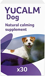 Lintbells YuCALM for Dogs, Natural Calming Supplement for Stressed or Nervous Dogs, 30 Tablets