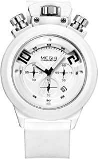 MEGIR Watch for Men, Silicone Band, Chronograph, M2004
