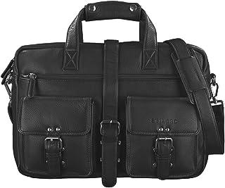 """STILORD Michael"""" Lehrertasche Leder Vintage Leder Laptoptasche 15,6 Zoll groß Büro Uni Herren Damen Rindsleder"""