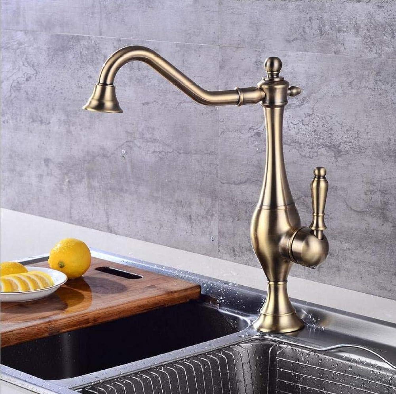 Badezimmer Küche Warmes Und Kaltes Wasser Grünes Bronzekupferhahn-Einlochmontage über Gegenbassinhahn Retro- Heiem Und Kaltem Hahnwannenhahn Der Küche