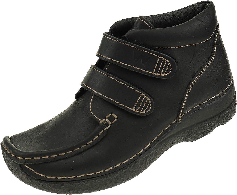 Wolky Damenschuhe Damenschuhe Damenschuhe Seamy-Easy 6279500 schwarz Oiled Klett Stiefelette f56