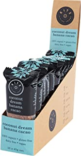 KITZ Coconut Dream Banana Cacao Bar   Delicious Healthy Vegan Snacks   100% Organic, Dairy Free and Gluten Free Snacks   E...