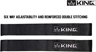King 4WD Heavy Duty Adjustable Ballistic Nylon Door Straps Solid in Pairs
