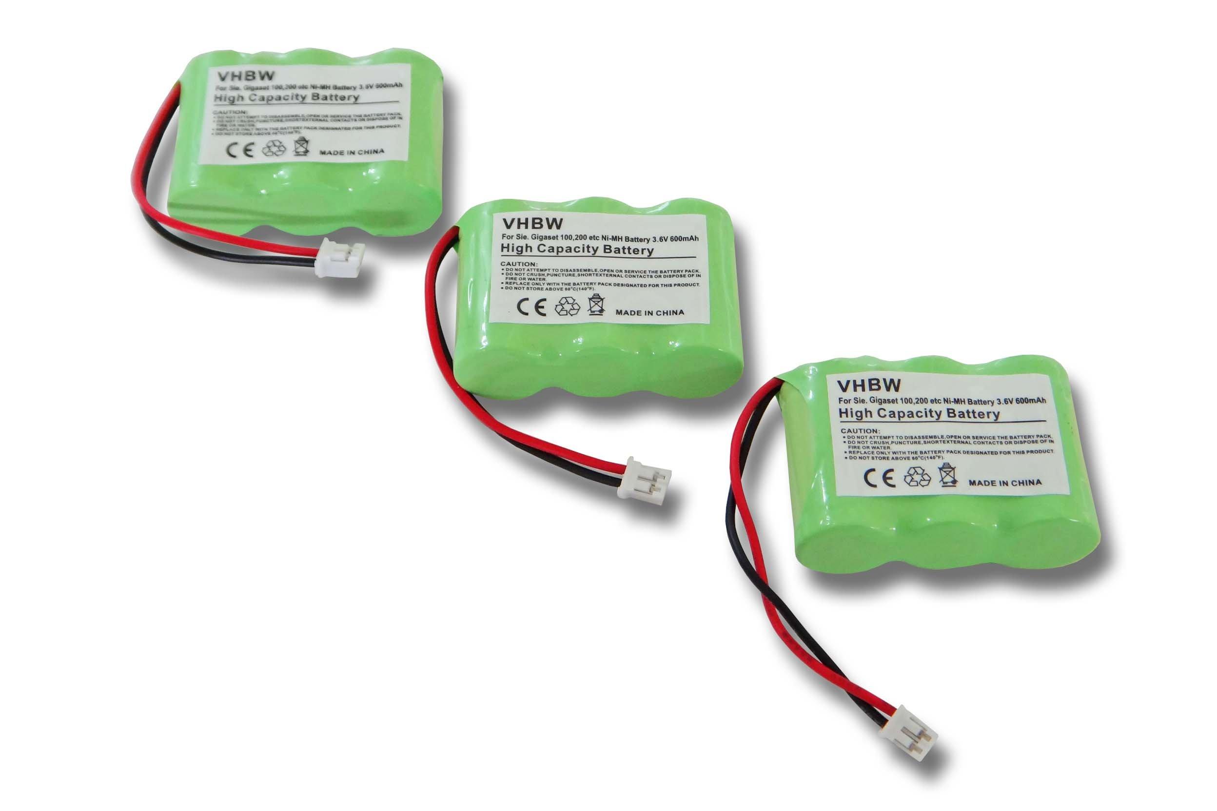 vhbw 3X batería 600mAh (3.6V) para teléfono Fijo inalámbrico teléfono Alcatel Eole 200, Eole 300, OneTouch Plus, Vocal por C39453-Z5-C193, HSC22, etc.: Amazon.es: Electrónica