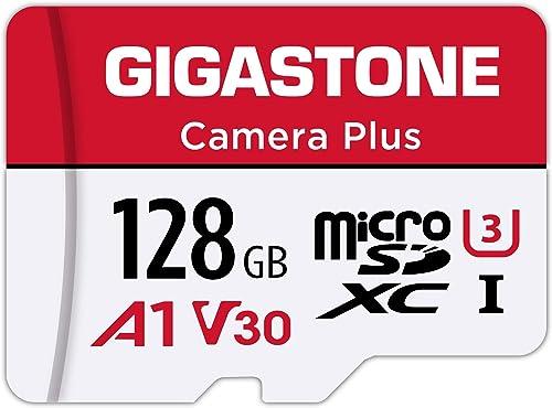 Gigastone Carte Mémoire 128 Go Caméra Plus Série, Vitesse de Lecture allant jusqu'à 100 Mo/s. idéal pour Full HD Vidé...