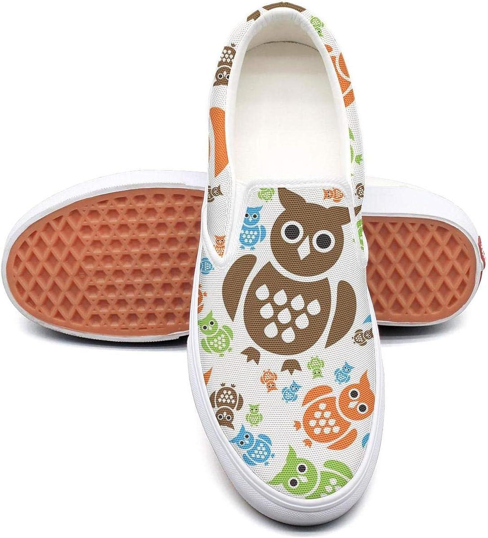 Uieort Winter Smart Owls Snow Womens Slip On Sneakers shoes Lightweight