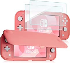 ProCase Nintendo Switch Lite Flip Cover with 2 Pack Tempered Glass Screen Protectors, Slim Protective Flip Case with Magne...