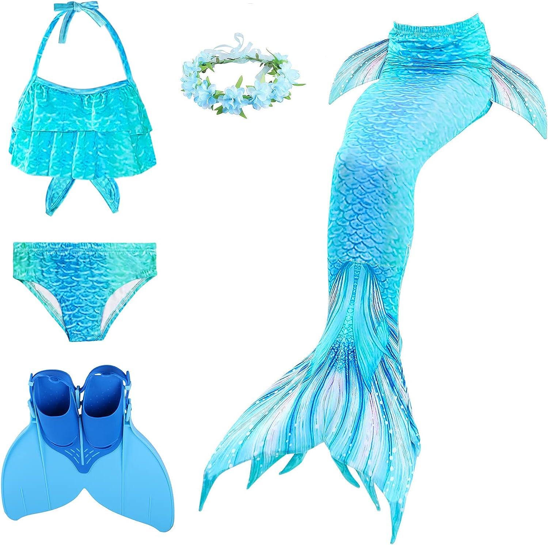 XICHONG Girls discount Mermaid Tail Swimsuit New item M Fashion and Bikini Garland