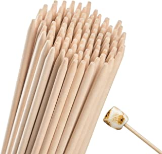 Natural Bamboo Marshmallow Roasting Sticks 110 Pieces 36 Inch 5mm Thick Extra Long Heavy Duty Wooden Hot Dog S'mores Bbq Skewers Shish Kabob Sausages Fire Pit Campfire 100% Eco Friendly Materials