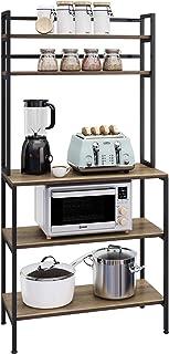 HOMECHO Meuble Cuisine pour Micro Onde et Four, Meuble de Rangement pour Cuisine Salon Chambre Bureau, Placard de Cuisine,...