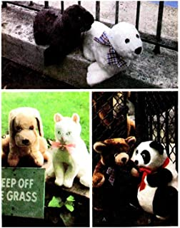STUFFED BEAR, PANDA, SEAL, DOG AND CAT CRAFT SEWING PATTERN FROM MCCALLS #6814 by McCall's