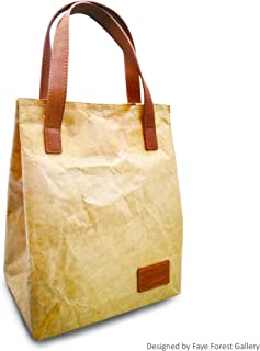 Eco-Friendly Lunch and shopping Bag Tyvek Paper Durable and Leakproof Perfect for Work. Professional, Practical & Stylish | Reusable. Keeps Food Cold. Easy to Carry by Faye Forest Gallery B11001
