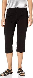 RUBY RD. womens Petite Size Pull-on Solar Millennium Tech Cropped Capri Pants