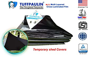 TUFFPAULIN (30X30,Black) Tarpaulin Waterproof UV Treated 100% Virgin Extra Strong Quality is 14611:2016 Approved 150 GSM