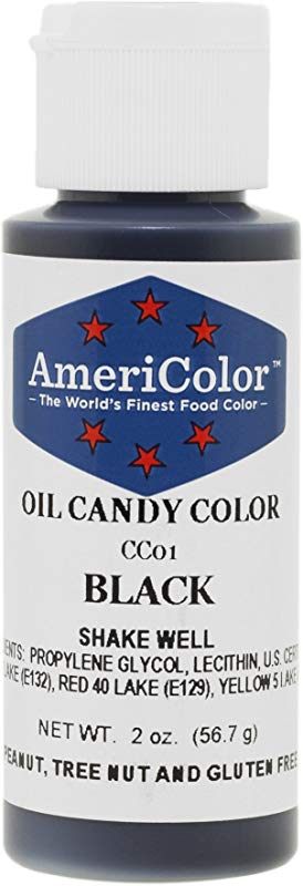 Americolor Candy Oil Food Color 2 Ounce Black