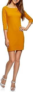 oodji Ultra Damen Baumwoll-Kleid Basic