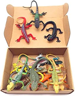 Guaishou Artificial Model Reptile Lizard Animal Figures Kids Gift 12pcs