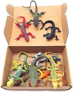 Guaishou Artificial Model Reptile Lizard Animal Figures Kids Gift 12pcs