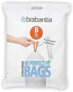 Brabantia PerfectFit Vuilniszak code B, 5 Liter, 60 stuks/dispenser pack
