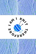 I KNIT THEREFORE I AM: 6x9 ALL YOU KNIT IS LOVE softcover book with dot pattern paper