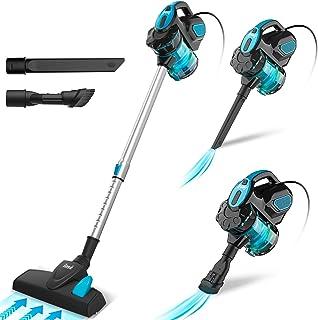 INSE Aspirador con Cable, Aspiradora Escoba de Succión Poderosa de 18kPa, Aspiradora Escopa 3 En 1 Vertical y de Mano para...