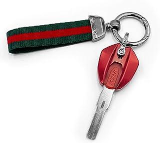 Fullibars Schlüsselabdeckung CNC Aluminium Motorrad Schlüsselanhänger Schlüsselschale für Ducati Monster 795/695/696/796/959 1199 Panigale S / R Diavel, Geburtstagsgeschenke für Männer und Frauen