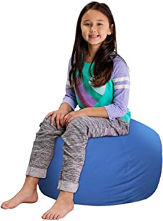 "Posh Stuffable Kids Stuffed Animal Storage Bean Bag Chair Cover - Childrens Toy Organizer, Medium 27"" - Solid Royal Blue"
